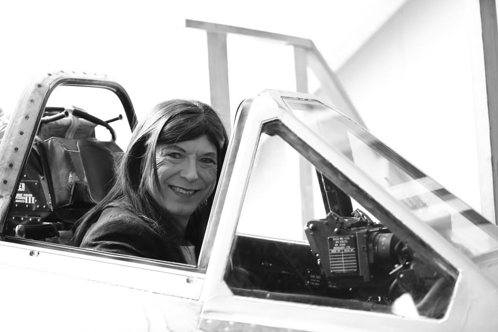 Andrea im Cockpit